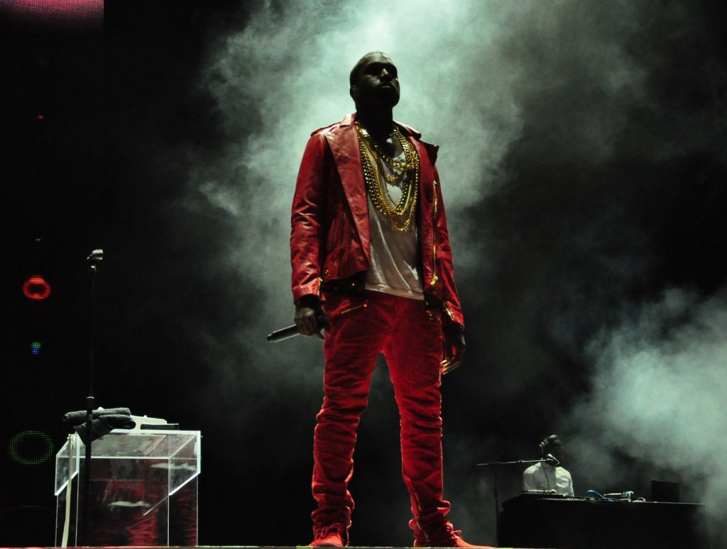 Kanye West performing at Lollapalooza on April 3, 2011 in Chile. Photo by Rodrigo Ferrari