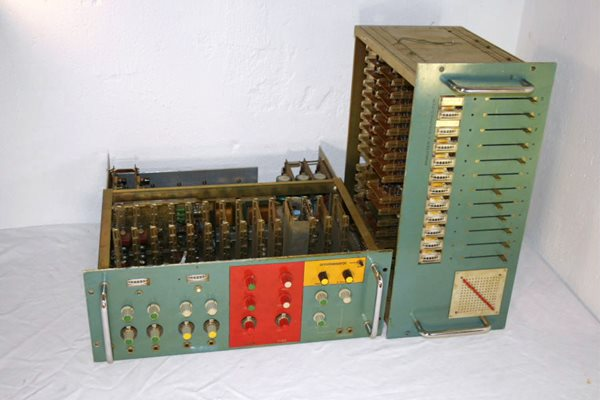 Custom vocoder built and used by Kraftwerk c. 1970s early music tech (photo courtesy of Wikimedia Commons)