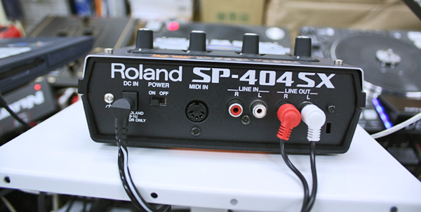 Rear of SP-404 music tech (photo courtesy of Wikimedia Commons)
