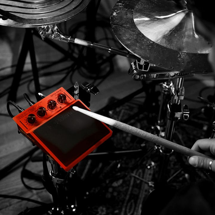 Drummer with SPD::ONE WAV PAD