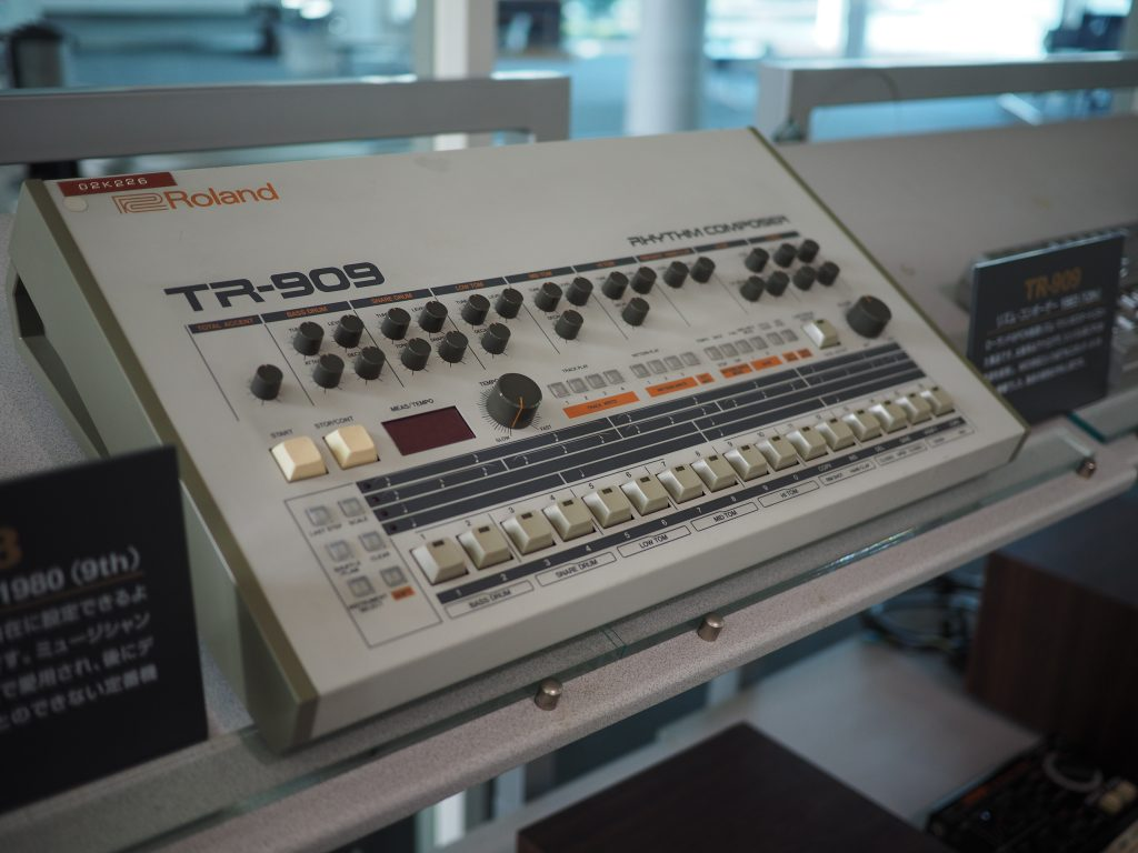 TR-909 in Roland Museum in Hamamatsu, Photo Courtesy of Roland Japan
