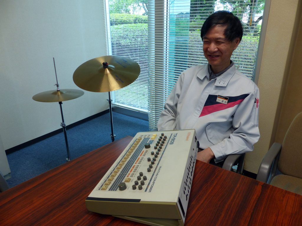 Atsushi Hoshiai's and the Roland TR-909, Photo Courtesy of Roland Japan