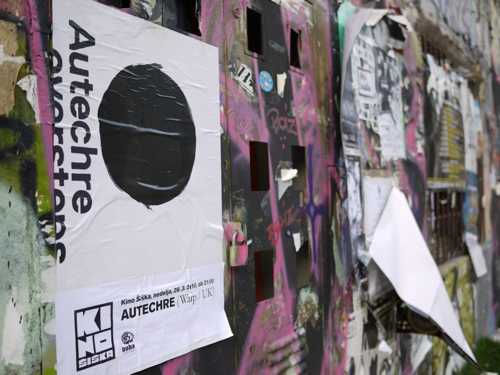 Autechre poster in Slovenia, Photo by Mike